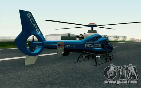 NFS HP 2010 Police Helicopter LVL 2 para GTA San Andreas left