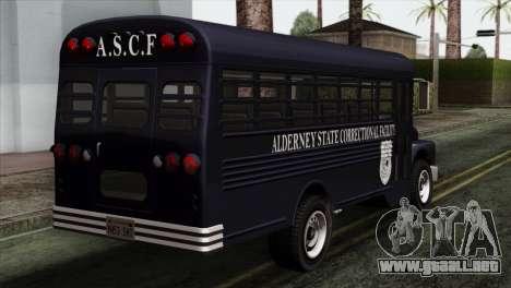GTA 4 TLaD Prison Bus para GTA San Andreas left