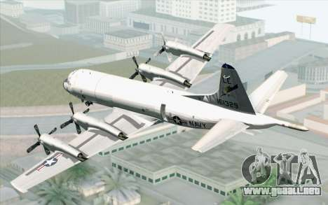 Lockheed P-3 Orion VP-11 US Navy para GTA San Andreas left