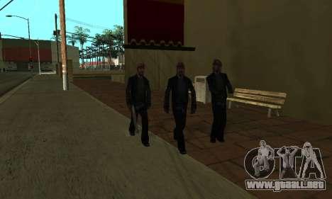El cambio de las áreas de las pandillas y sus ar para GTA San Andreas octavo de pantalla