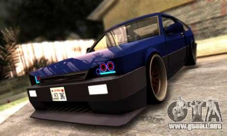 Blista Compact By VeroneProd para visión interna GTA San Andreas