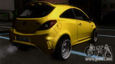 Opel Corsa OPC para GTA San Andreas left