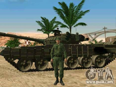 El ejército ruso está en una nueva forma para GTA San Andreas octavo de pantalla