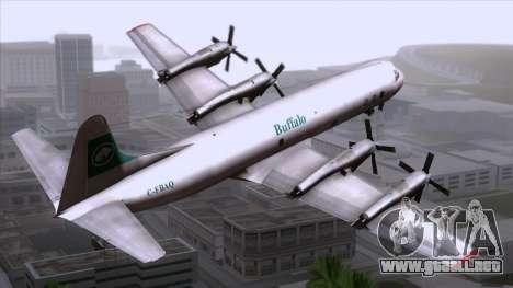 L-188 Electra Buffalo Airways para GTA San Andreas left
