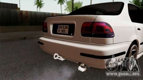 Honda Civic 1.6 para GTA San Andreas vista hacia atrás
