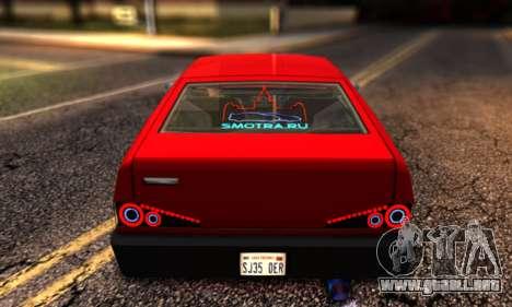 Blista Compact By VeroneProd para GTA San Andreas vista posterior izquierda