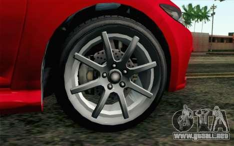 GTA V Dinka Blista para GTA San Andreas vista posterior izquierda