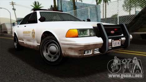GTA 5 Vapid Stanier Sheriff para GTA San Andreas