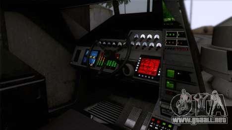 Alien APC M577 para GTA San Andreas vista hacia atrás
