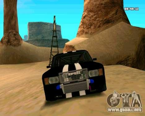 VAZ 2107 CALAMBRES para la vista superior GTA San Andreas