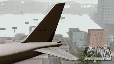 Boeing E-767 Japan Air Self-Defense Force EoJ para GTA San Andreas vista posterior izquierda