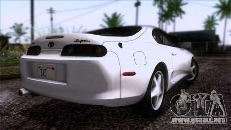 Toyota Supra US-Spec (JZA80) 1993 HQLM para GTA San Andreas left