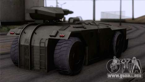Alien APC M577 para GTA San Andreas left
