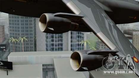 C-17A Globemaster III QAF para la visión correcta GTA San Andreas