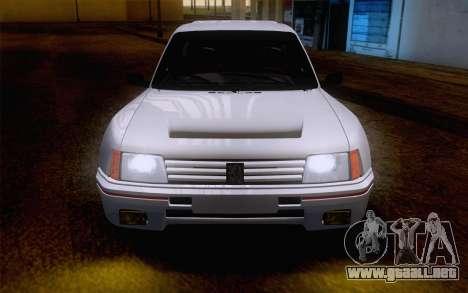 Peugeot 205 Turbo 16 1984 [IVF] para visión interna GTA San Andreas