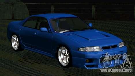 Nissan Skyline R33 4door outech para GTA San Andreas left