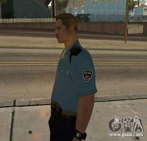 Israeli Police Officer para GTA San Andreas segunda pantalla