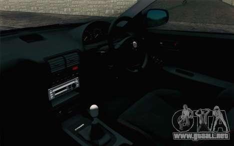 Honda Integra Type R 2000 Stock para la visión correcta GTA San Andreas