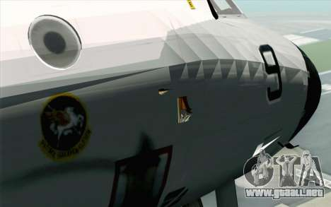 Lockheed P-3 Orion VP-11 US Navy para GTA San Andreas vista hacia atrás