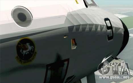 Lockheed P-3 Orion VP-11 US Navy para GTA San Andreas vista hacia atrás