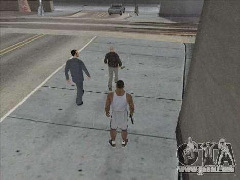 A los Rusos en el distrito Comercial para GTA San Andreas octavo de pantalla