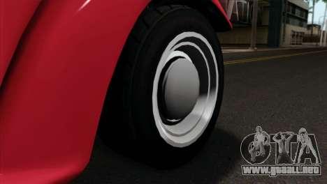 GTA 5 Bravado Rat-Truck IVF para GTA San Andreas vista posterior izquierda