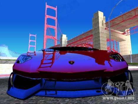Lamborghini Aventador Novitec Torado para GTA San Andreas vista hacia atrás