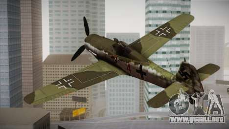 FW 190 D-11 Red 4 JV44 para GTA San Andreas left
