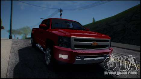 Chevrolet Silverado 1500 HD Stock para GTA San Andreas vista hacia atrás