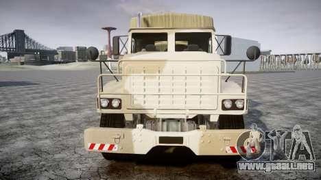 GTA 5 Barracks v2 para GTA 4 Vista posterior izquierda