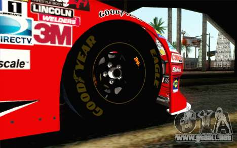 NASCAR Chevrolet Impala 2012 Short Track para GTA San Andreas vista posterior izquierda