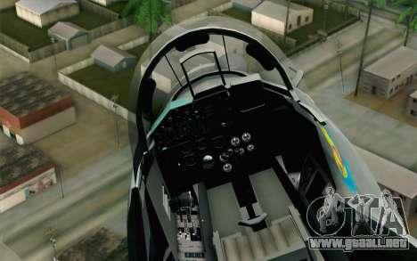 MIG-29 Polish Air Force para la visión correcta GTA San Andreas