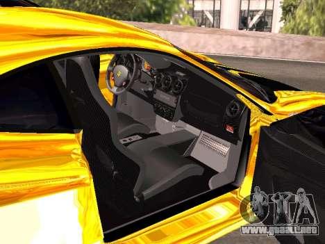 Ferrari F430 para vista inferior GTA San Andreas