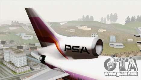 Lookheed L-1011 PSA para GTA San Andreas vista posterior izquierda