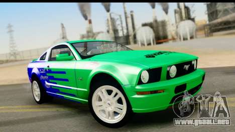 Ford Mustang GT para la vista superior GTA San Andreas