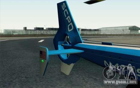 NFS HP 2010 Police Helicopter LVL 2 para la visión correcta GTA San Andreas