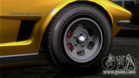 GTA 5 Invetero Coquette Classic HT IVF para GTA San Andreas vista posterior izquierda