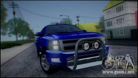 Chevrolet Silverado 1500 HD Stock para visión interna GTA San Andreas