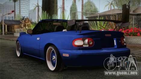 Mazda Miata Cabrio v2 para GTA San Andreas left