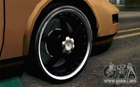 Infernus Edicte v2 para GTA San Andreas vista posterior izquierda