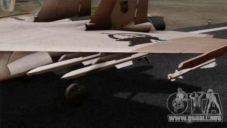 SU-37 UPEO para la visión correcta GTA San Andreas