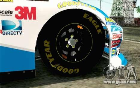 NASCAR Ford Fusion 2012 Plate Track para GTA San Andreas vista posterior izquierda