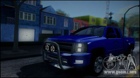 Chevrolet Silverado 1500 HD Stock para la vista superior GTA San Andreas