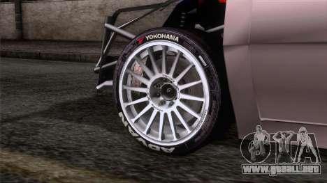 Volkswagen Golf para GTA San Andreas vista posterior izquierda