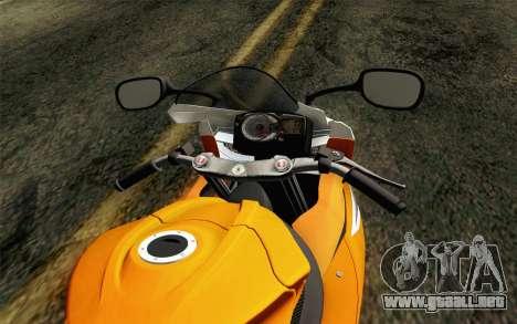Suzuki GSX-R 600 2015 Orange para la visión correcta GTA San Andreas