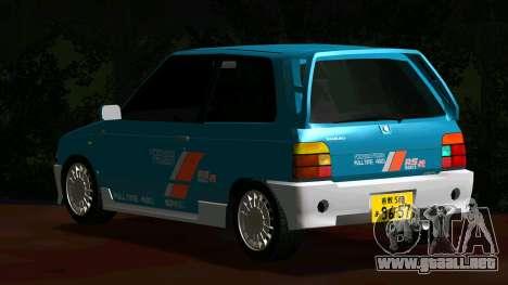 Suzuki Alto Works RS/R para GTA San Andreas vista posterior izquierda