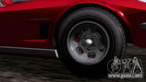 GTA 5 Invetero Coquette Classic TL IVF para GTA San Andreas vista posterior izquierda