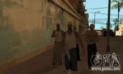 El cambio de las áreas de las pandillas y sus ar para GTA San Andreas segunda pantalla