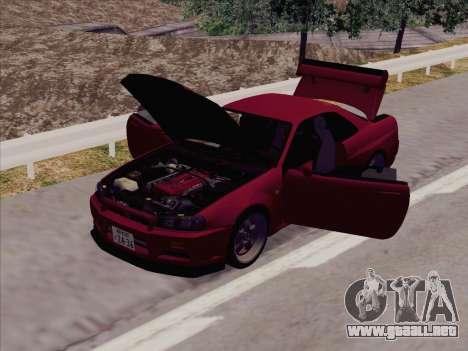 Nissan Skyline GT-R V-Spec (BNR34) para GTA San Andreas left