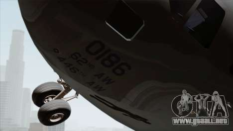 C-17A Globemaster III USAF McChord para la visión correcta GTA San Andreas